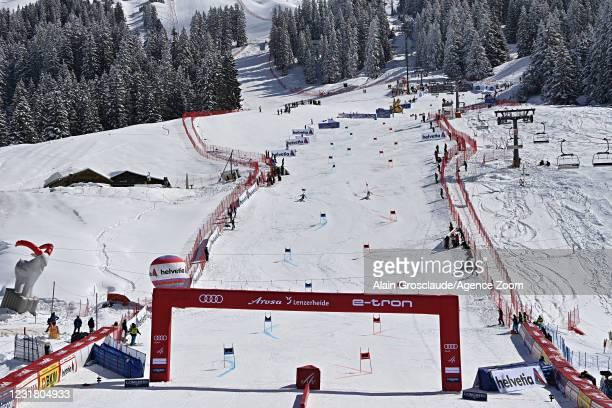 General view during the Audi FIS Alpine Ski World Cup Team Parallel Slalom on March 19, 2021 in Lenzerheide, Switzerland.