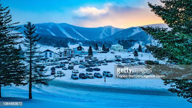 A general view during the Audi FIS Alpine Ski World Cup Women's Giant Slalom on November 24 2018 in Killington USA