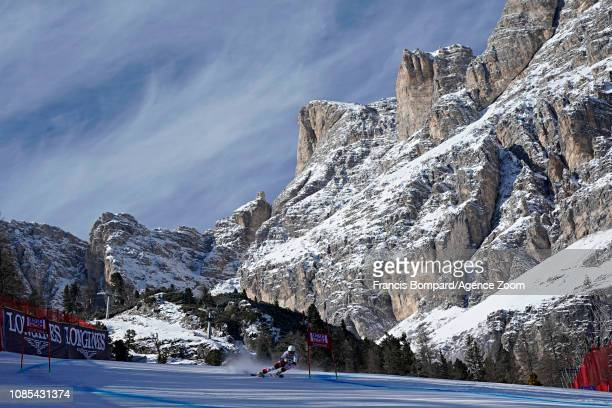 A general view during the Audi FIS Alpine Ski World Cup Women's Super G on January 20 2019 in Cortina d'Ampezzo Italy