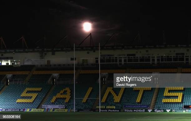 General view during the Aviva A League Final between Northampton Wanderers and Exeter Braves at Franklin's Gardens on April 30, 2018 in Northampton,...
