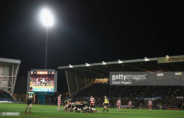 A general view during the Aviva Premiership match between Northampton Saints and Gloucester Rugby at Franklin's Gardens on October 28 2016 in...