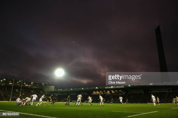 General View during the Aviva Premiership match between Northampton Saints and Exeter Chiefs at Franklin's Gardens on December 23, 2017 in...