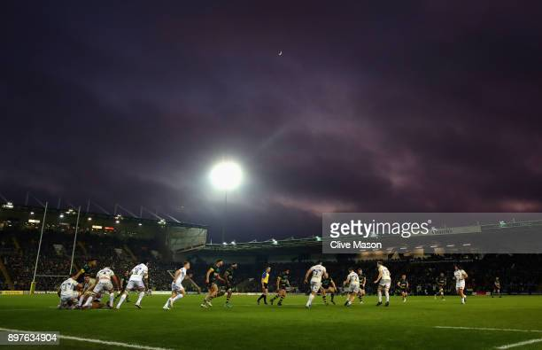 General View during the Aviva Premiership match between Northampton Saints and Exeter Chiefs at Franklin's Gardens on December 23 2017 in Northampton...