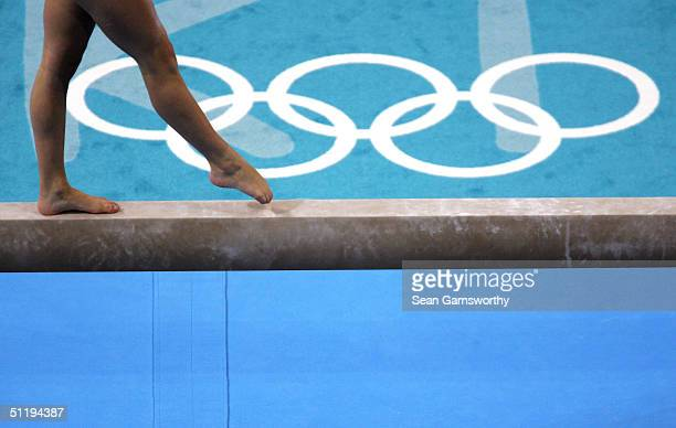General view during the balance beam exercise at the women's artistic gymnastics individual competition on August 19 2004 during the Athens 2004...