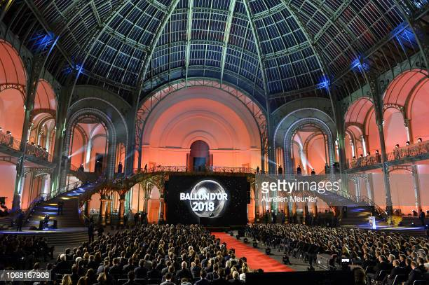 A general view during the Ballon D'Or ceremony at Le Grand Palais on December 3 2018 in Paris France