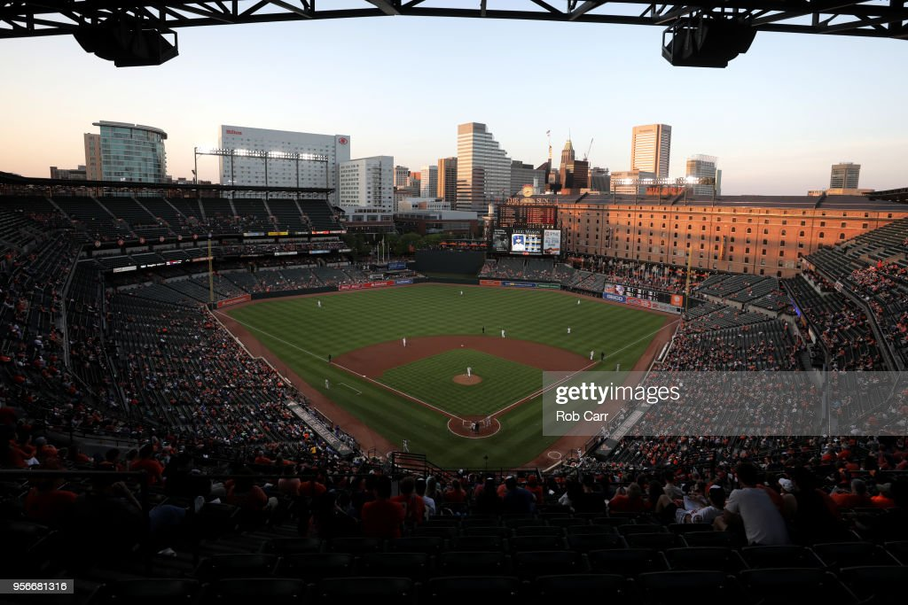 A general view during the Baltimore Orioles and Kansas City Royals game at Oriole Park at Camden Yards on May 9, 2018 in Baltimore, Maryland.