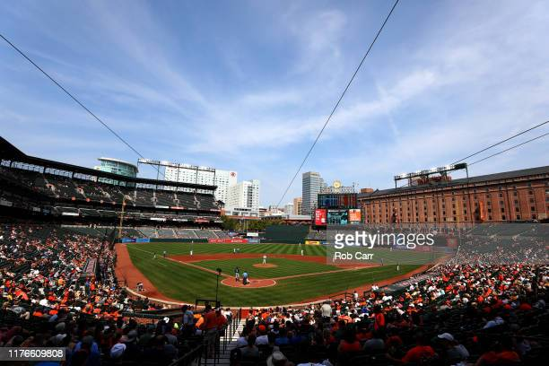 General view during the Baltimore Orioles and Seattle Mariners game at Oriole Park at Camden Yards on September 22, 2019 in Baltimore, Maryland.
