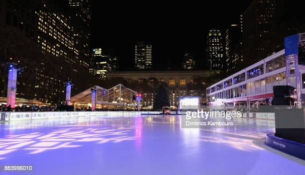 General view during the Bank of America Winter Village at Bryant Park's Annual Tree Lighting Skatetacular on December 1 2017 in New York City