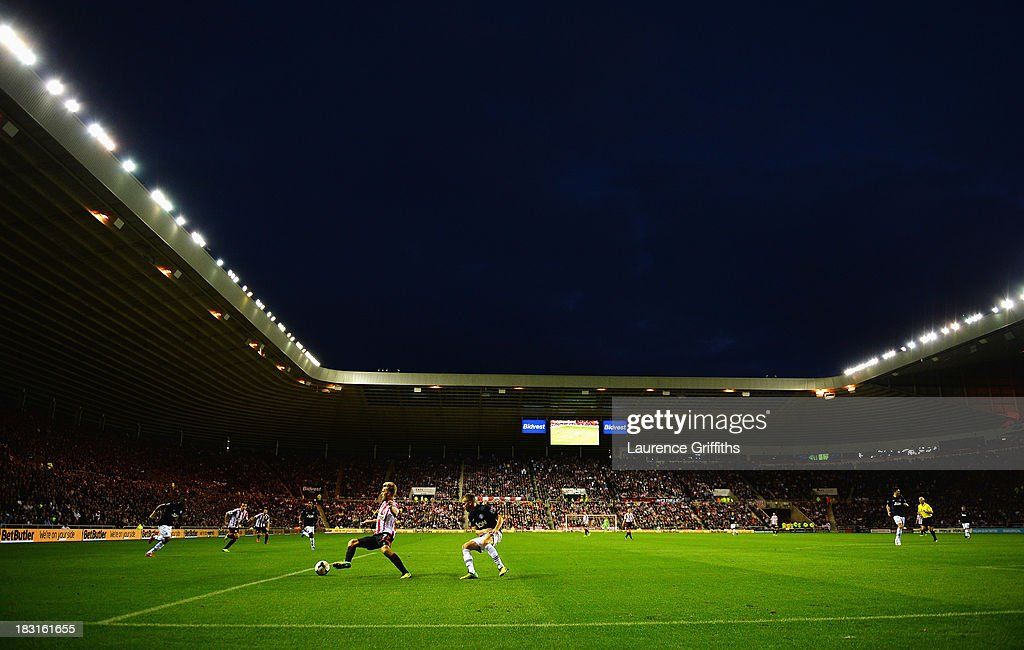 A general view during the Barclays Premier League match between Sunderland and Manchester United at the Stadium of Light on October 5, 2013 in Sunderland, England.