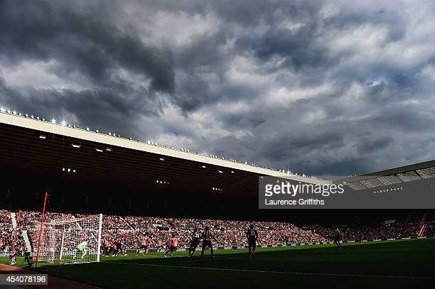A general view during the Barclays Premier League match between Sunderland and Manchester United at Stadium of Light on August 24 2014 in Sunderland...