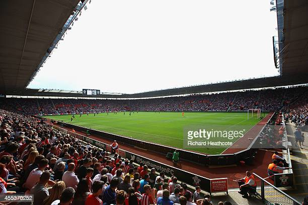 A general view during the Barclays Premier League match between Southampton and Newcastle United at St Mary's Stadium on September 13 2014 in...