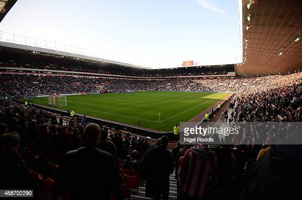 A general view during the Barclays Premier League match between Sunderland and Everton at Stadium of Light on November 9 2014 in Sunderland England