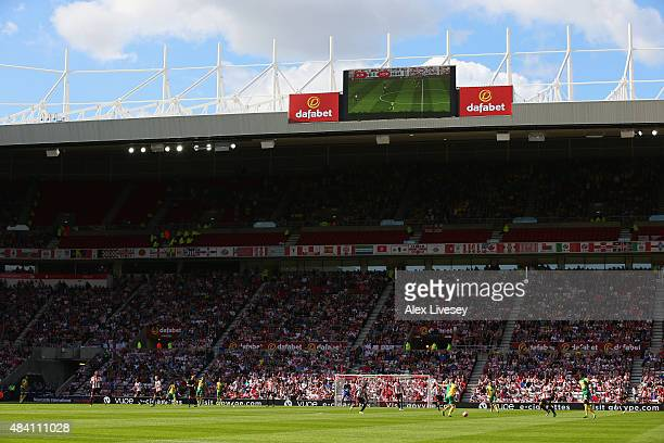 A general view during the Barclays Premier League match between Sunderland and Norwich City at the Stadium of Light on August 15 2015 in Sunderland...