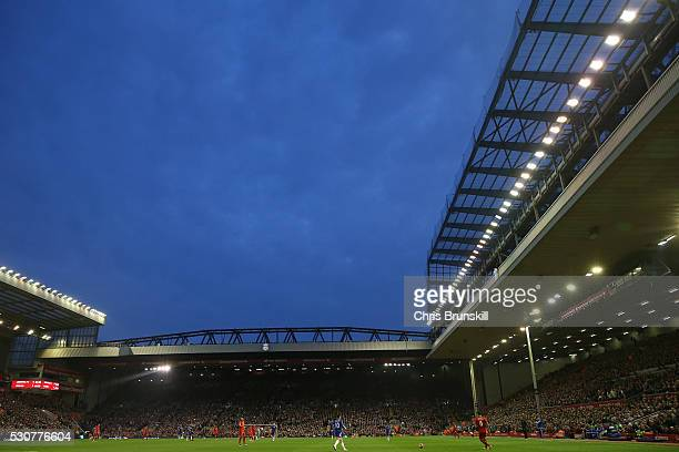 A general view during the Barclays Premier League match between Liverpool and Chelsea at Anfield on May 11 2016 in Liverpool England
