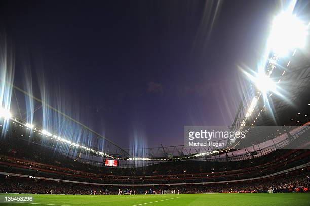 A general view during the Barclays Premier League match between Arsenal and Everton at Emirates Stadium on December 10 2011 in London England
