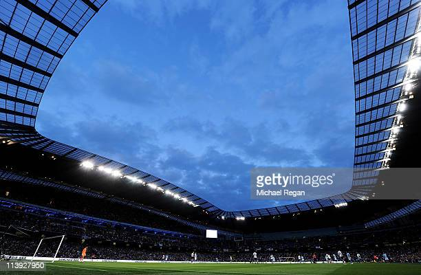 General View during the Barclays Premier League match between Manchester City and Tottenham Hotspur at the City of Manchester Stadium on May 10 2011...