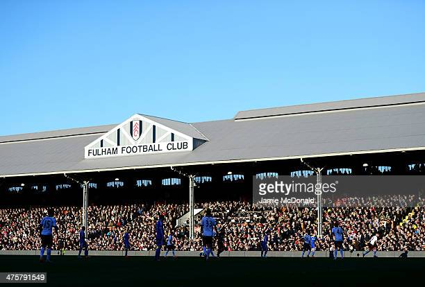 A general view during the Barclays Premier League match between Fulham and Chelsea at Craven Cottage on March 1 2014 in London England