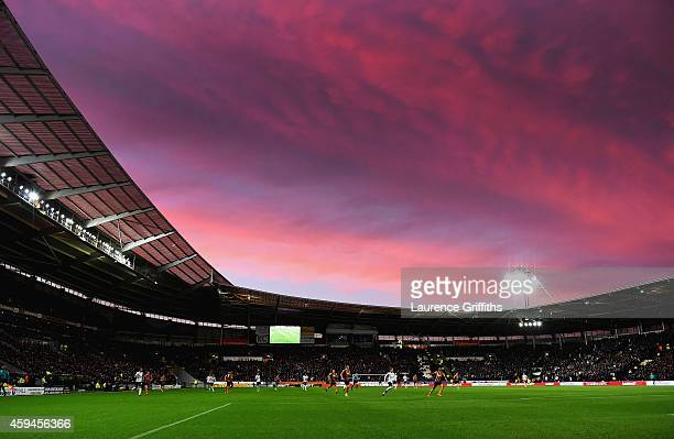 A general view during the Barclays Premier League match between Hull City and Tottenham Hotspur at KC Stadium on November 23 2014 in Hull England