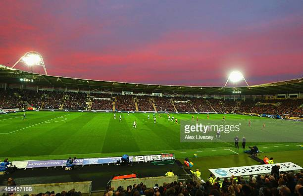 General view during the Barclays Premier League match between Hull City and Tottenham Hotspur at KC Stadium on November 23, 2014 in Hull, England.