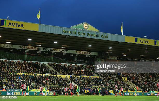 A general view during the Barclays Premier League match between Norwich City and Southampton at Carrow Road on January 2 2016 in Norwich England