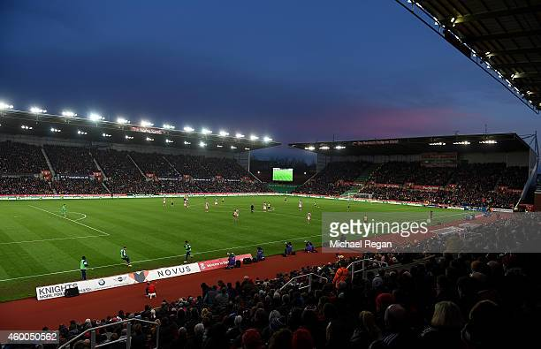 General View during the Barclays Premier League match between Stoke City and Arsenal at the Britannia Stadium on December 6 2014 in Stoke on Trent...