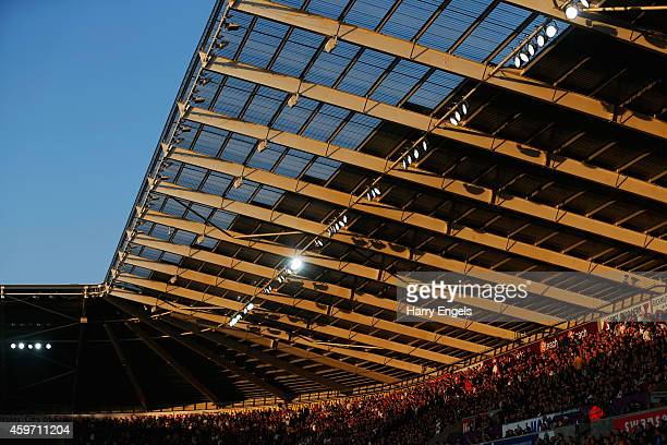 A general view during the Barclays Premier League match between Swansea City and Crystal Palace at Liberty Stadium on November 29 2014 in Swansea...