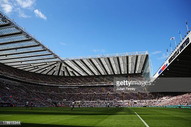 A general view during the Barclays Premier League match between Newcastle United and Fulham at St James' Park on August 31 2013 in Newcastle upon...