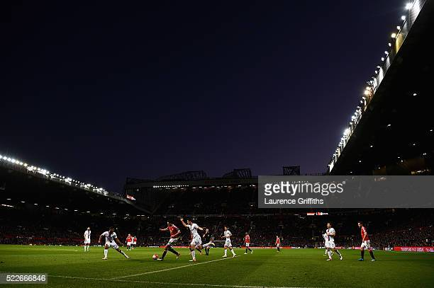 A general view during the Barclays Premier League match between Manchester United and Crystal Palace at Old Trafford on April 20 2016 in Manchester...