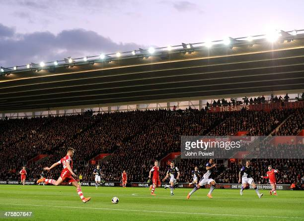 General view during the Barclays Premier Leauge match between Southampton and Liverpool at St Mary's Stadium on March 1 2014 in Southampton England