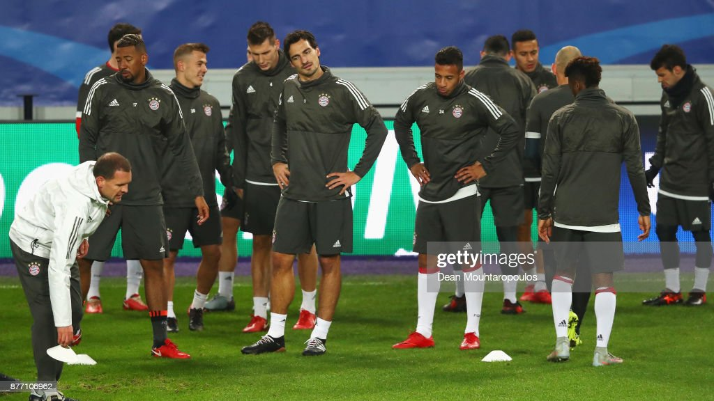 A general view during the Bayern Muenchen Training session held at the Constant Vanden Stock Stadium on November 21, 2017 in Brussels, Belgium. R.S.C. Anderlecht will play Bayern Munich in their Group B, Champions League match on the 22nd of November, 2017.
