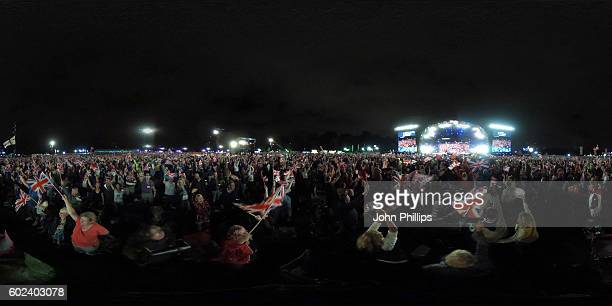 A general view during the BBC Proms In The Park at Hyde Park on September 10 2016 in London England