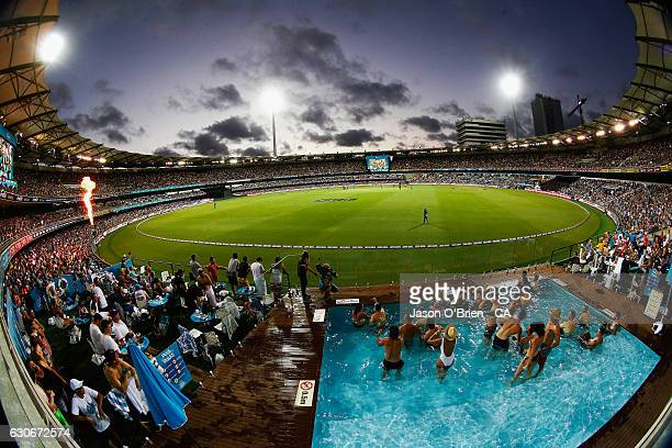 General view during the Big Bash League between the Brisbane Heat and Hobart Hurricanes at The Gabba on December 30, 2016 in Brisbane, Australia.