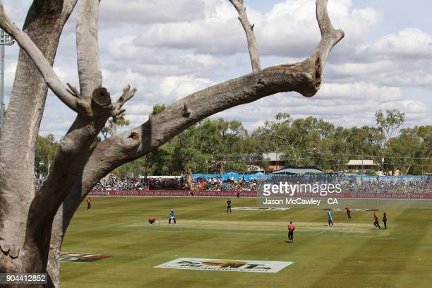 A general view during the Big Bash League match between the Adelaide Strikers and the Perth Scorchers at Traeger Park on January 13 2018 in Alice...