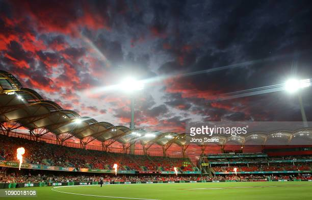 A general view during the Big Bash League match between the Melbourne Stars and the Sydney Thunder at Metricon Stadium on January 05 2019 in Gold...