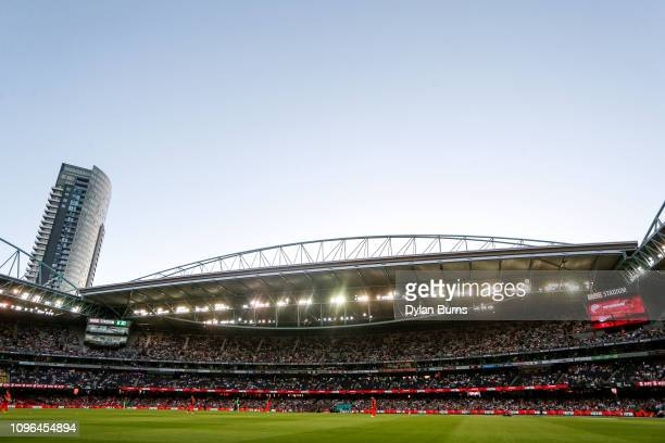 A general view during the Big Bash League match between the Melbourne Renegades and the Melbourne Stars at Marvel Stadium on January 19 2019 in...