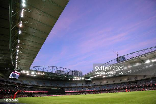 General view during the Big Bash League match between the Melbourne Renegades and the Sydney Sixers at Marvel Stadium on January 02, 2020 in...