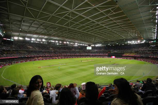 General view during the Big Bash League match between the Melbourne Renegades and the Melbourne Stars at Marvel Stadium on January 10, 2020 in...