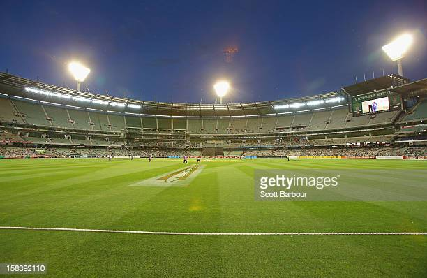 A general view during the Big Bash League match between the Melbourne Stars and the Hobart Hurricanes at the Melbourne Cricket Ground on December 15...