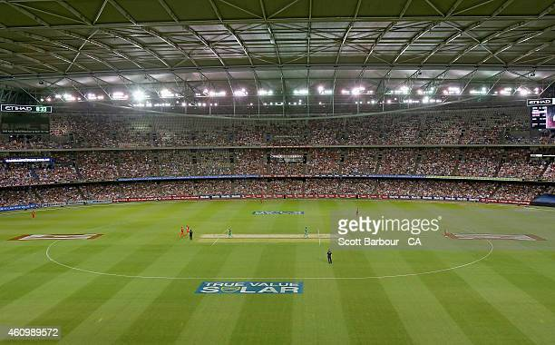 A general view during the Big Bash League match between the Melbourne Renegades and the Melbourne Stars at Etihad Stadium on January 3 2015 in...