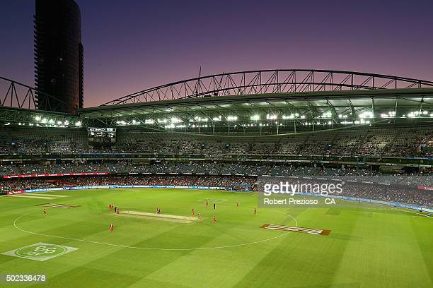 A general view during the Big Bash League match between the Melbourne Renegades and the Sydney Sixers at Etihad Stadium on December 23 2015 in...