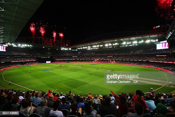 General view during the Big Bash League match between the Melbourne Renegades and the Melbourne Stars at Etihad Stadium on January 9, 2016 in...