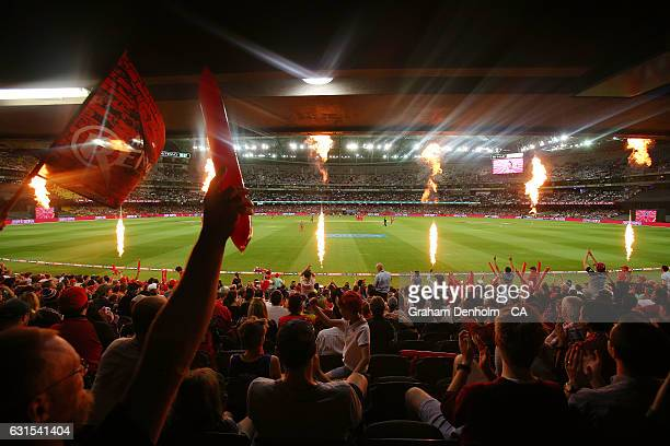 General view during the Big Bash League match between the Melbourne Renegades and the Hobart Hurricanes at Etihad Stadium on January 12, 2017 in...