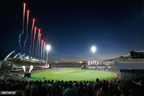 A general view during the Big Bash League match between the Melbourne Renegades and the Sydney Sixers on January 3 2018 in Geelong Australia