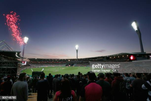 General view during the Big Bash League match between the Melbourne Renegades and the Sydney Sixers on January 3, 2018 in Geelong, Australia.