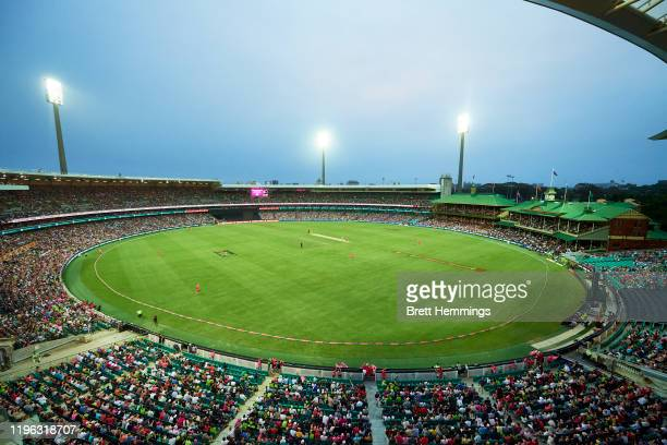 General view during the Big Bash League match between the Sydney Sixers and the Sydney Thunder at the Sydney Cricket Ground on December 28, 2019 in...