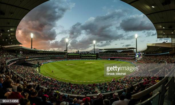 General view during the Big Bash League match between the Sydney Sixers and the Sydney Thunder at Sydney Cricket Ground on January 13, 2018 in...