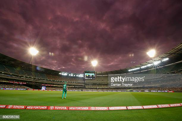 General view during the Big Bash League Semi Final match between the Melbourne Stars and the Perth Scorchers at Melbourne Cricket Ground on January...