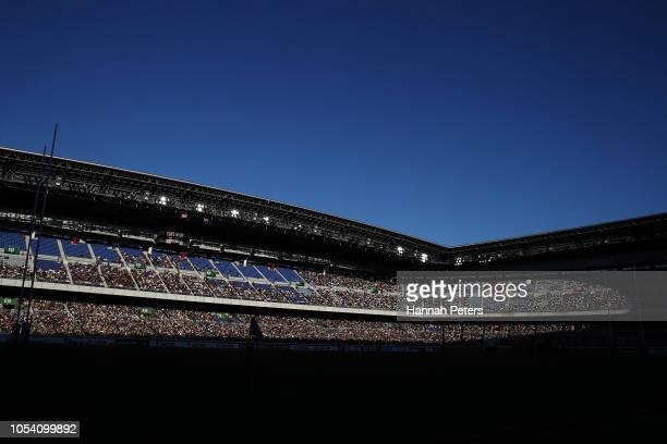 A general view during the Bledisloe Cup test match between the New Zealand All Blacks and Australian Wallabies at Nissan Stadium on October 27 2018...