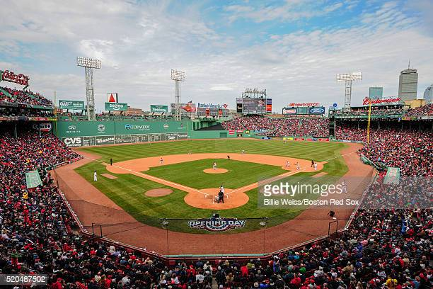 A general view during the Boston Red Sox home opener against the Baltimore Orioles on April 11 2016 at Fenway Park in Boston Massachusetts
