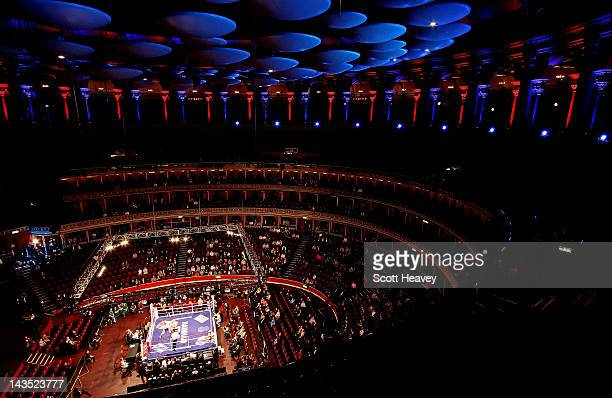 A general view during the Boxnation event Battle Royale at Royal Albert Hall on April 28 2012 in London England